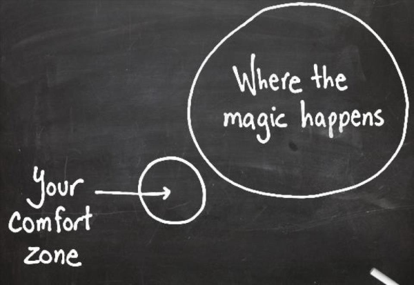 Getting out of your comfort zone?